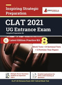 Complete CLAT UG Exam Preparation Book 2021 For UnderGraduate Programmes   8 Full length Mock Tests  Solved    15 Sectional Tests   3 Previous Year Paper   By EduGorilla