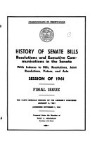 History of Senate and House Bills