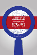 Handbook of Investigation and Effective CAPA Systems, Second Edition [Pdf/ePub] eBook