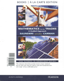 Mathematics for the Trades  Books a la Carte Plus Mymathlab    Access Card Package