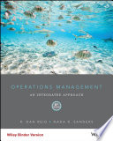 """Operations Management: An Integrated Approach"" by R. Dan Reid, Nada R. Sanders"
