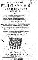 Histoire de Fl. Iosephe