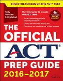 The Official ACT Prep Guide  2016 2017  Book   Bonus Online Content