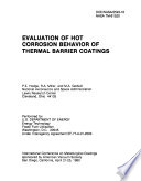 Evaluation of Hot Corrosion Behavior of Thermal Barrier Coatings