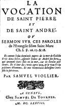 La vocation de Saint Pierre et de Saint André