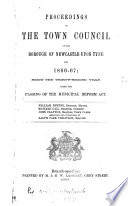 Proceedings of the Town Council of the Borough of Newcastle upon Tyne Book PDF