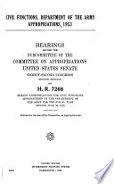 Civil Functions  Department of the Army Appropriations  1953  Hearings Before     82 2  on H R  7268