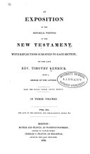 An Exposition of the Historical Writings of the New Testament