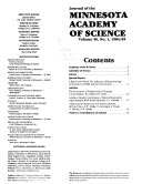 Journal of the Minnesota Academy of Science
