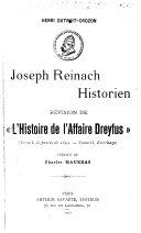 Joseph Reinach, historien