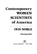 Contemporary Women Scientists of America
