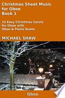 Oboe  Christmas Sheet Music For Oboe Book 1