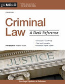 link to Criminal law : a desk reference in the TCC library catalog