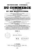 Dictionnaire universel du commerce, de la banque et des manufactures...