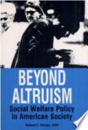 Beyond Altruism Book PDF