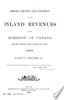 Report Returns And Statistics Of The Inland Revenues Of The Dominion Of Canada