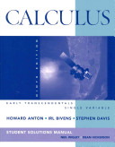 Calculus Early Transcendentals Single Variable 9E Student Solutions Manual