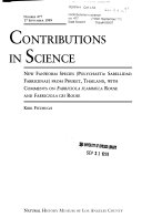 Contributions in Science
