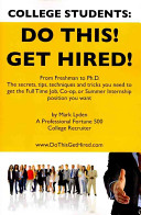 College Students  Do This  Get Hired