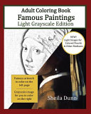 Famous Paintings Adult Coloring Book