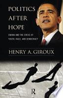 Politics After Hope Book