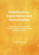 Simplification, Explicitation and Normalization