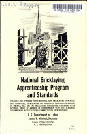 National Bricklaying Apprenticeship Program and Standards     1954 Edition