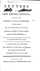 Letters of Lady Rachel Russell