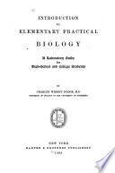 Introduction to Elementary Practical Biology Book