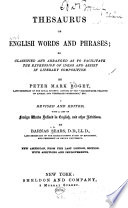 Thesauris of English Words   Phrases