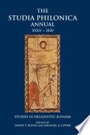 The Studia Philonica Annual XXXII  2020