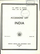 Accessions List  India