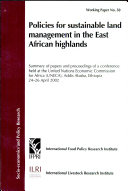 Policies for Sustainable Land Management in the East African Highlands