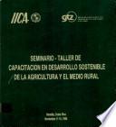 Marco Conceptual del Desarrollo Sostenible de la Agricultura y el Medio Rural en el IICA