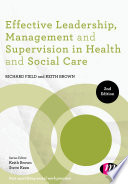 Effective Leadership Management And Supervision In Health And Social Care