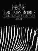 Essential Quantitative Methods for Business  Management and Finance