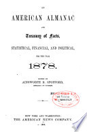 American Almanac and Treasury of Facts Statistical  Financial and Political Book