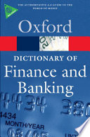 A Dictionary of Finance and Banking Pdf/ePub eBook