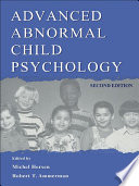 Advanced Abnormal Child Psychology