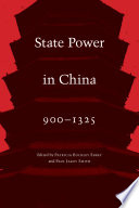 State Power in China  900 1325 Book