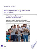 Building Community Resilience to Disasters