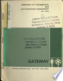 Gateway National Recreation Area  N R A    General Management Plan  GMP   NY NJ