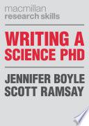 Writing a Science PhD