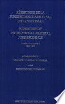 Repertory of international arbitral jurisprudence