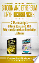 Bitcoin And Ethereum Cryptocurrencies Book PDF