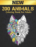 200 Animals Coloring Book For Adults New