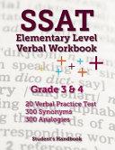 SSAT Elementary Level Verbal Workbook