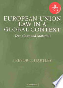 European Union Law in a Global Context Book