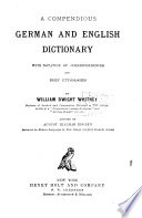 A Compendious German and English Dictionary Book PDF