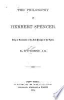 The Philosophy of Herbert Spencer Book